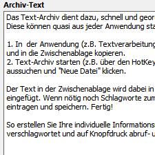 allegro:Zack Text Archiv