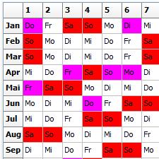 allegro:Zeit Jahresplan